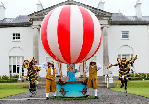 Members of the Bui Bolg theatre company at the Aras Garden Party Photo: Maxwell's