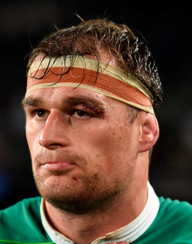 A dejected Rhys Ruddock of Ireland after the Test game between South Africa and Ireland. Photo: Sportsfile