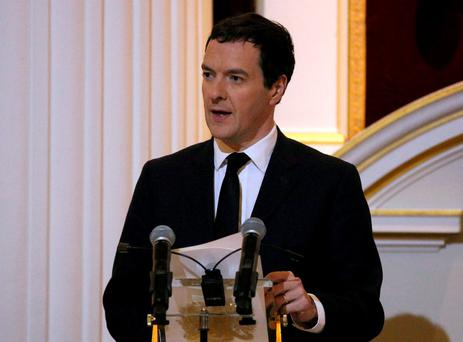 UK Chancellor of the Exchequer George Osborne. Pic: Neil Hall