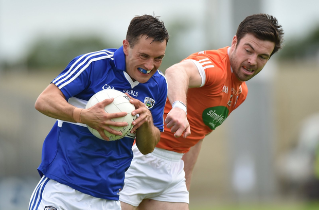 Niall Donoher in action against Aidan Forker Photo by Matt Browne/Sportsfile