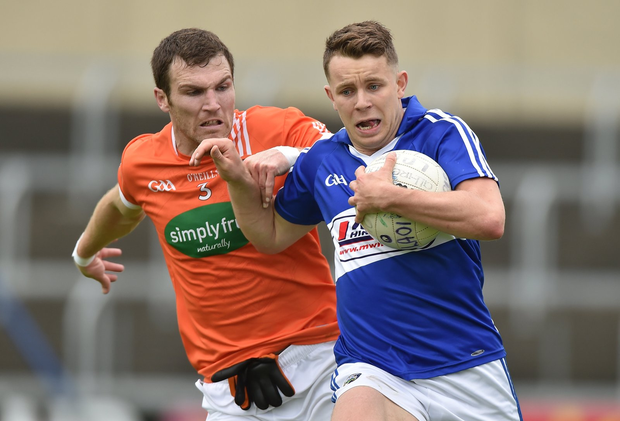 Stephen Attride in action against Brendan Donaghy Photo by Matt Browne/Sportsfile