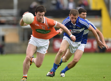 Aidan Forker in action against Gearoid Hanrahan Photo by Matt Browne/Sportsfile