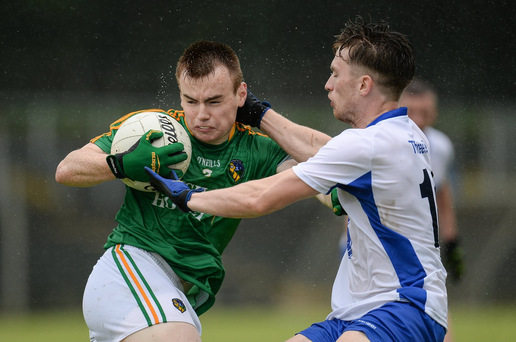 Keelan McHugh in action against Lorcán Ó Corraoin Photo by Seb Daly/Sportsfile