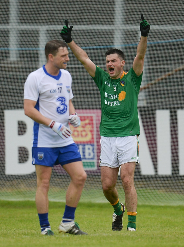 Ronan Gallagher celebrates following his side's victory Photo by Seb Daly/Sportsfile