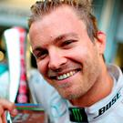 Rosberg celebrates his success (Photo by Mark Thompson/Getty Images)
