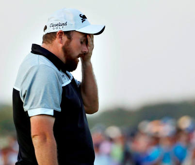 Shane Lowry after finishing the final round of the US Open at Oakmont Country Club in Pennsylvania Photo: Charlie Riedel/PA