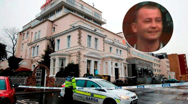 The aftermath of the Regency Hotel attack, inset David Byrne