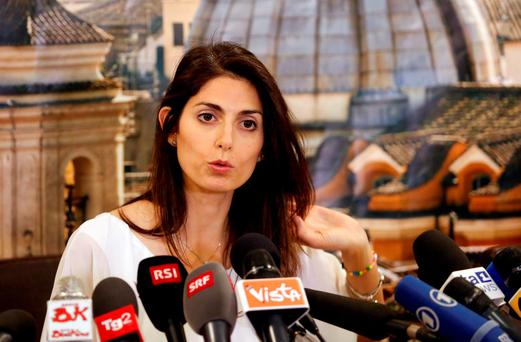Rome's newly elected mayor Virginia Raggi, of 5-Star Movement, talks during a news conference in Rome, Italy June 20, 2016