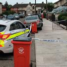 Garda at the scene of the shooting this morning