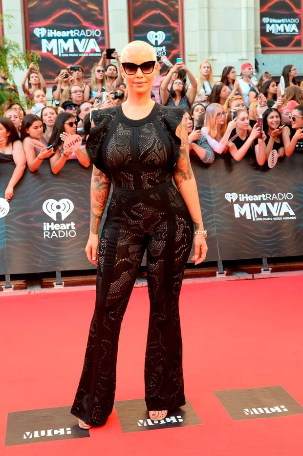 Amber Rose arrives at the 2016 iHeartRADIO MuchMusic Video Awards at MuchMusic HQ on June 19, 2016 in Toronto, Canada. (Photo by Sonia Recchia/Getty Images)