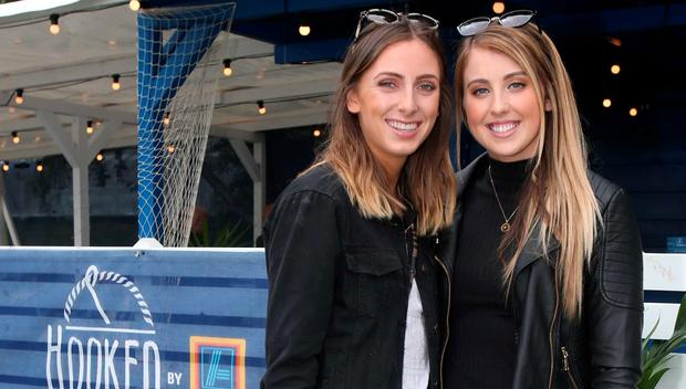 Holly Grace and Amy Connor at the Hooked by Aldi restaurant at Taste of Dublin in the Iveagh Gardens. Picture: Leon Farrell/Photocall Ireland