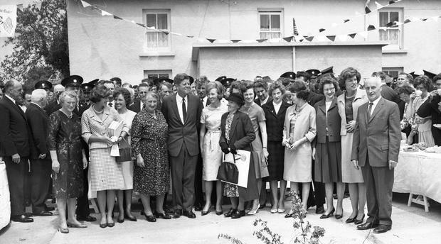 American President John Fitzgerald Kennedy (J.F.K)'s visit to Ireland, June 1963. Reception in Wexford. (Part of the Independent Ireland Newspapers/NLI Collection)