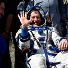 Handout photo issued by the European Space Agency of Major Tim Peake sitting in a chair after landing in Kazakhstan, as the British astronaut has made a dramatic return to Earth after six months on the International Space Station