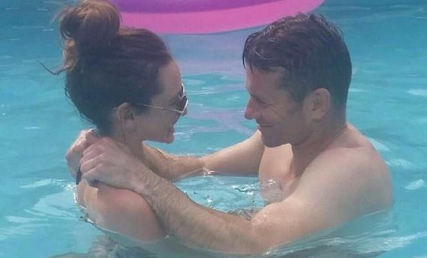 Shay Given and Becky Gibson in France. Picture: Cynthia Given/Twitter