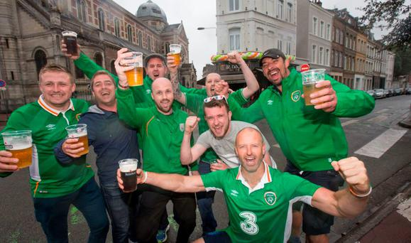 A group of Irish fans in Lille