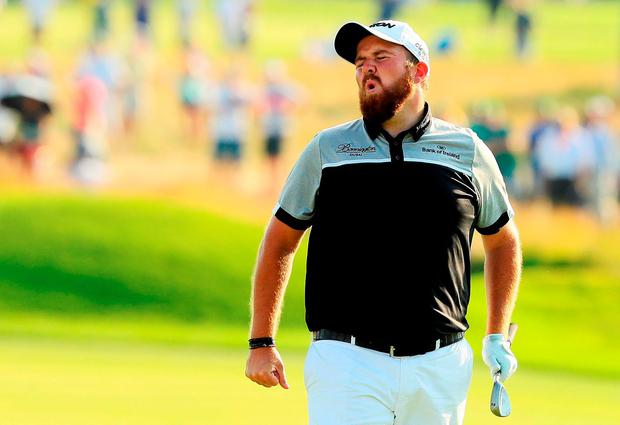 Shane Lowry shows his frustration during his final round at Oakmont. Photo: Getty