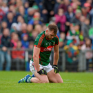 A dejected Aidan O'Shea reacts to a missed chance against Galway. Photo: Sportsfile