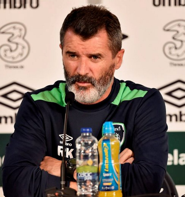 Ireland assistant manager Roy Keane is pictured during a press conference ahead of tomorrow's final Group E clash against Italy in Lille Photo: David Maher/Sportsfile