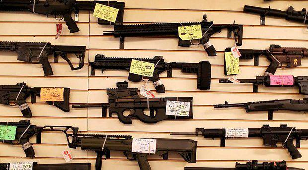 Automatic weapons are freely available in the US
