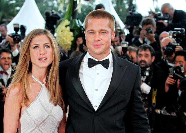 Brad Pitt and ex-wife Jennifer Aniston in 2004