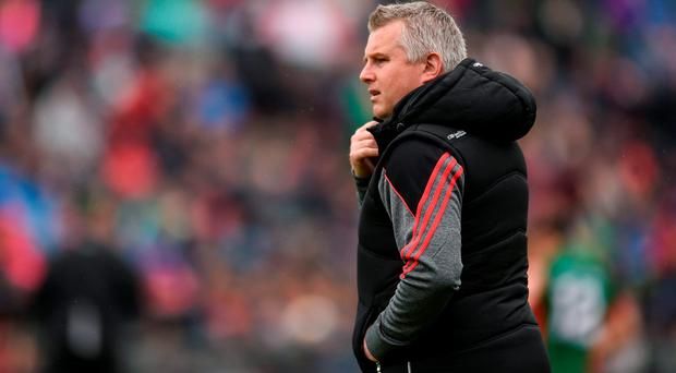 Mayo manager Stephen Rochford ahead of the Connacht GAA Football Senior Championship Semi-Final match between Mayo and Galway at Elverys MacHale Park in Castlebar, Co Mayo. Photo by Ramsey Cardy/Sportsfile