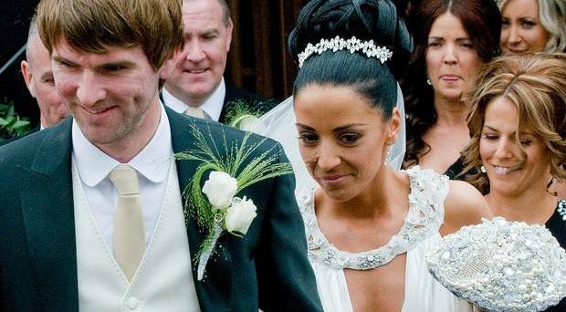 Paddy McCourt and his bride Laura after they married