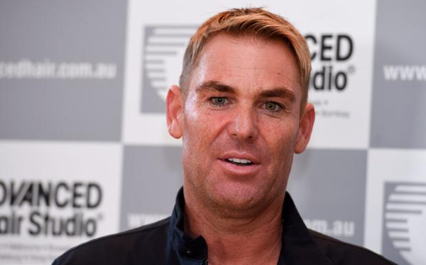 Shane Warne speaks to the media during a media opportunity at Advanced Hair Studio on March 18, 2016 in Melbourne, Australia. Shane Warne was promoting the new TV commercial for Advanced Hair Studio which was unveiled for the first time today. (Photo by Vince Caligiuri/Getty Images)