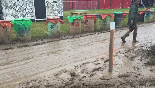 Glastonbury campsite. Photo: Twitter