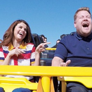 James Corden and Selena Gomez hit Six Flags Magic Mountain for the latest installment of Carpool Karaoke. Photo: CBS
