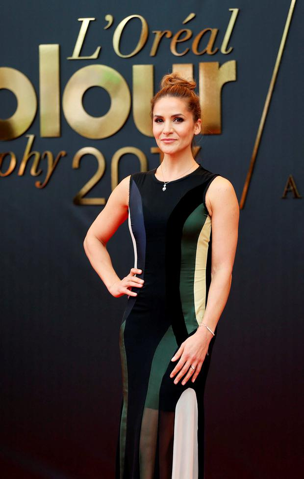 Amanda Byram at the 50th anniversary L'Oreal Colour Trophy held in the Convention Centre, Dublin. Picture: Robbie Reynolds
