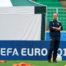 Ireland manager Martin O'Neill during squad training at Versailles in Paris