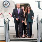 US Vice President, Joe Biden and his daughter, Asley pictured this evening at Dublin Airport where he arrived with his family at the start of a six day visit to Ireland.... Picture Colin Keegan, Collins Dublin.