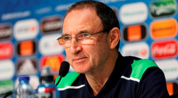 Ireland head coach Martin O'Neill. Photo: Reuters
