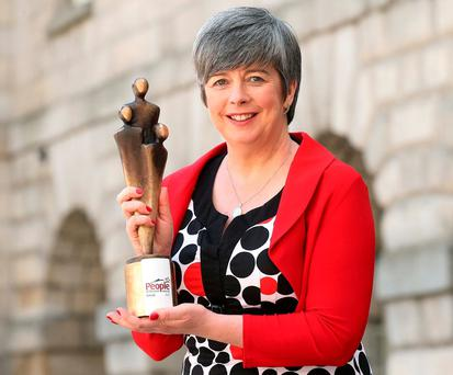 Louise O'Keeffe, a previous winner of a People of the Year Award, pictured at Clarke Square, Collins Barracks, Dublin, for the launch of the 2016 People of the Year Awards. Pic. Robbie Reynolds