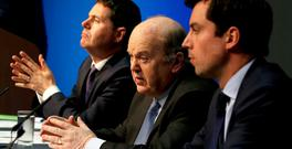 Michael Noonan, Paschal Donohoe, and Eoghan Murphy launch the Summer Economic Statement. Photo: Tom Burke