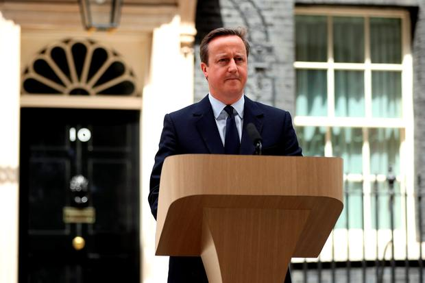 British Prime Minister David Cameron delivers a statement on the steps of Downing Street outlining his position on the future of the United Kingdom. (Photo by Dan Kitwood/Getty Images)