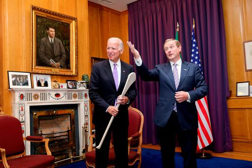 US Vice President Joe Biden and Enda Kenny in the Taoiseach's office. Maxwell Photography