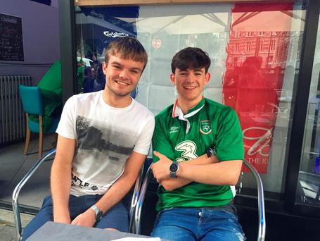 Cian Fallon and Cathal Tighe in Lille
