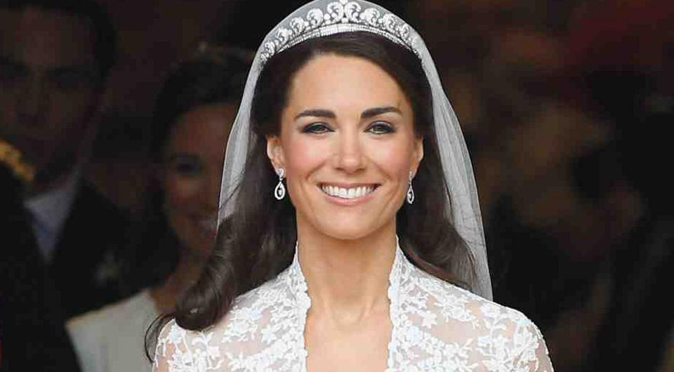 Kate Middleton at the royal wedding in 2011
