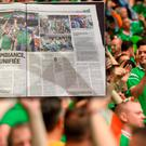 Ireland fans North and South have been hailed in L'Equipe