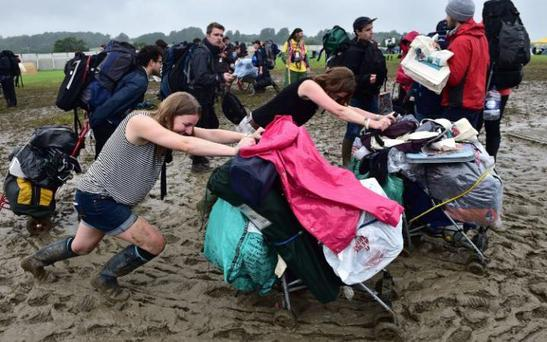 Glastonbury struggles. Photo: PA