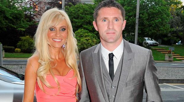 Claudine and Robbie Keane in 2008