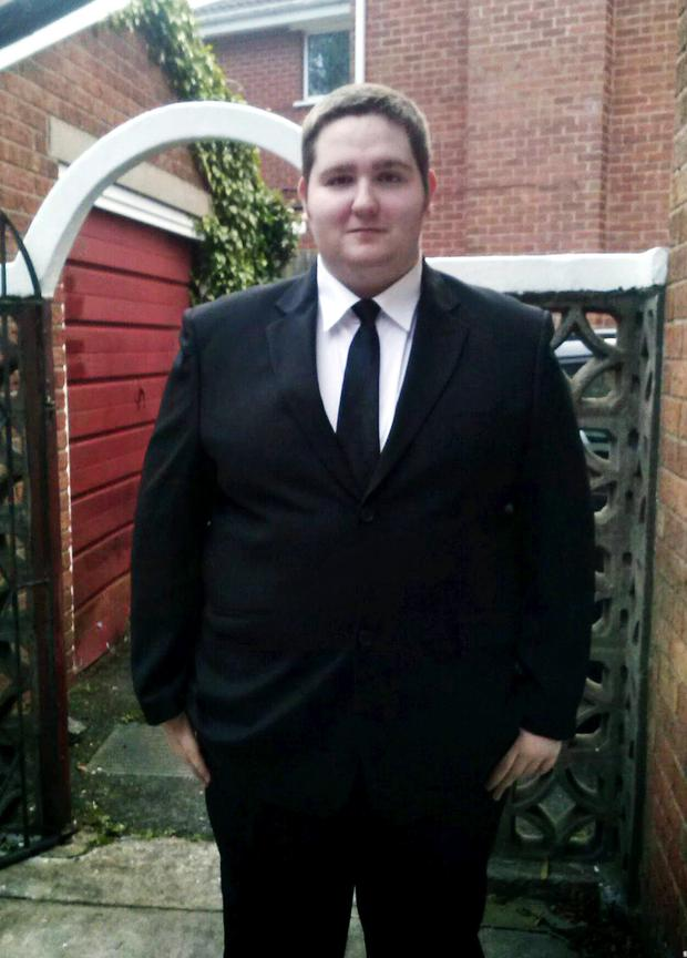Tom Johnston from Northern Ireland before he shed 14st 5lbs to become Slimming World;s Young Slimmer of the Year 2016.