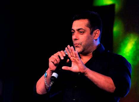 File photo taken on October 2, 2015 shows Indian Bollywood actor Salman Khan at a promotional event in Mumbai