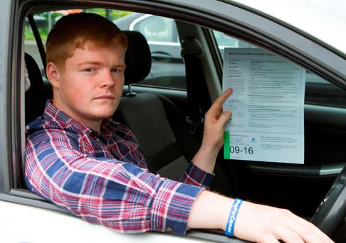 Student Hugh Boyle from Donegal with his insurance quote. Photo: North West Newspix
