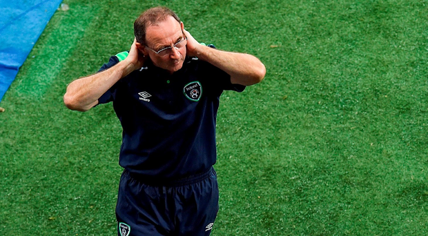 22 June 2016; Republic of Ireland manager Martin O'Neill reacts during the UEFA Euro 2016 Group E match between Italy and Republic of Ireland at Stade Pierre-Mauroy in Lille, France. Photo by Paul Mohan / Sportsfile
