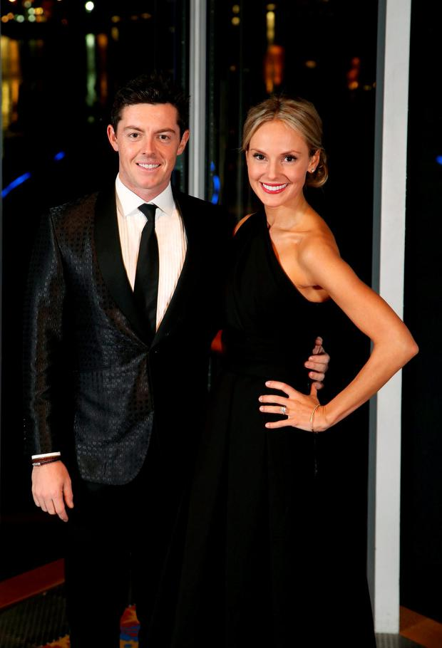 Rory McIlroy and fiancee Erica Stoll Picture: Darren Kidd /Press Eye