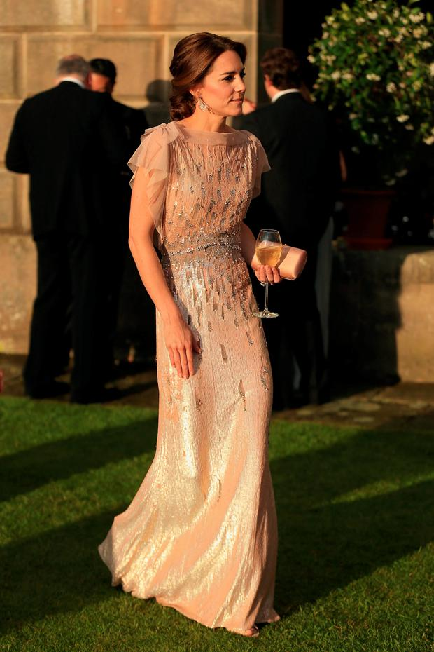 Kate Middleton attends a gala dinner at Houghton Hall in King's Lynn in support of East Anglia's Children's Hospices' nook appeal, which is raising funds to build and equip a new children's hospice for families in Norfolk. Photo: Stephen Pond/PA Wire