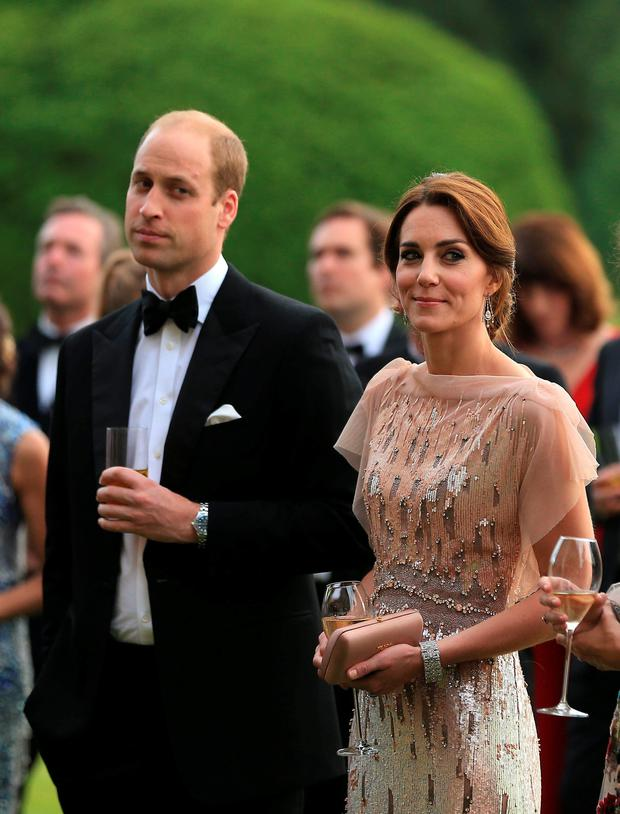 Kate and William attend a gala dinner at Houghton Hall in King's Lynn in support of East Anglia's Children's Hospices' nook appeal, which is raising funds to build and equip a new children's hospice for families in Norfolk. Photo: Stephen Pond/PA Wire