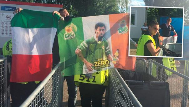 Italian fan refused entry to Stade Pierre-Mauroy because of his Paul McGrath flag